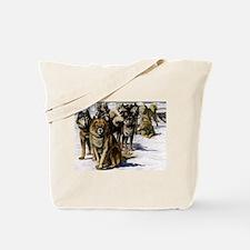 Sled Dog Husky Portrait Tote Bag