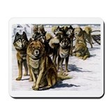 Sled dog Mouse Pads