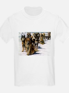 Sled Dog Husky Portrait Kids T-Shirt