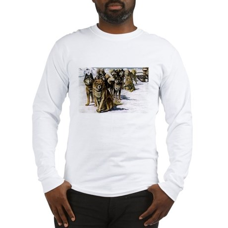 Sled Dog Husky Portrait Long Sleeve T-Shirt