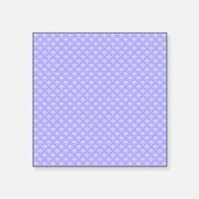 "Periwinkle and White Floral Square Sticker 3"" x 3"""