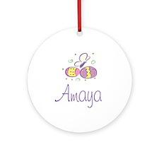 Easter Eggs - Amaya Ornament (Round)