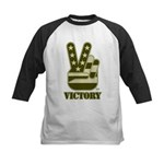 Victory Sign Kids Baseball Jersey