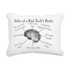 Atlas of a Rad techs bra Rectangular Canvas Pillow