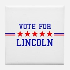 Vote for Lincoln Tile Coaster