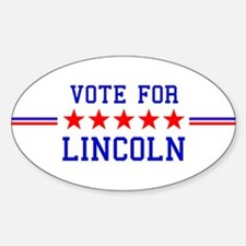 Vote for Lincoln Oval Decal