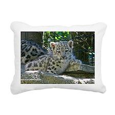 Baby Snow Leopard Rectangular Canvas Pillow