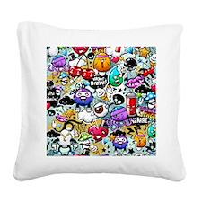 Cool Graffiti Square Canvas Pillow