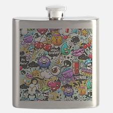 Cool Graffiti Flask