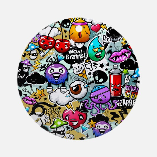 Cool Graffiti Round Ornament
