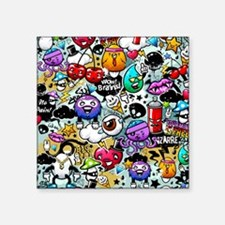 "Cool Graffiti Square Sticker 3"" x 3"""