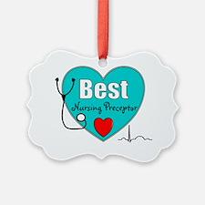 Best Nursing Preceptor blue Ornament