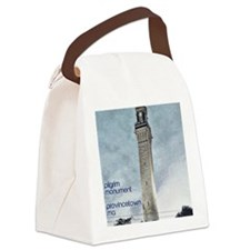 Pilgrim Monument - Blue Canvas Lunch Bag