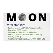 Moon facts 3'x5' Area Rug