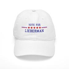 Vote for Lieberman Baseball Cap