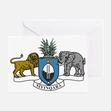 swaziland coat of arms Greeting Card