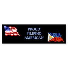 Proud Filipino #1 Gifts Bumper Car Sticker