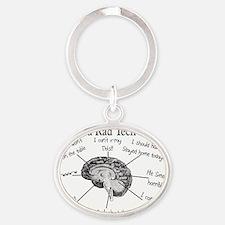 Atlas of a Rad techs brain Oval Keychain