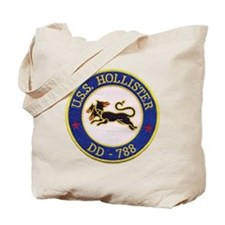 uss hollister patch transparent Tote Bag