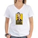 Stop Global Warming -- Women's V-Neck T-Shirt