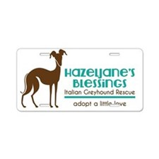 Hazeljane's Blessings Itali Aluminum License Plate