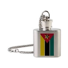 mozambique flag 2 Flask Necklace