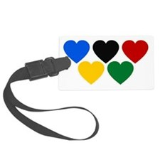 Colorful Hearts Luggage Tag