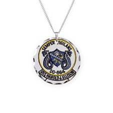 uss harold j. ellison patch  Necklace Circle Charm