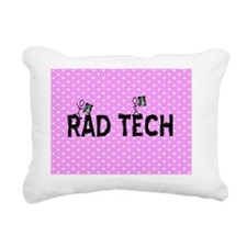Rad tech necklace pink Rectangular Canvas Pillow