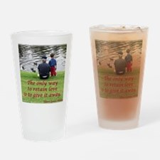 Give Love Drinking Glass