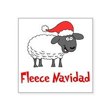 "Fleece Navidad Square Sticker 3"" x 3"""