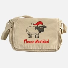 Fleece Navidad Messenger Bag