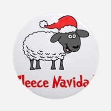 Fleece Navidad Round Ornament