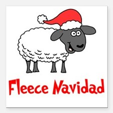 "Fleece Navidad Square Car Magnet 3"" x 3"""