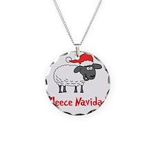 Fleece Navidad Necklace Circle Charm