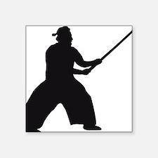 "samurai sword Square Sticker 3"" x 3"""