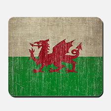 Vintage Wales Flag Mousepad