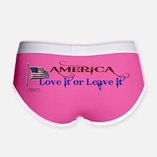 America Love It or Leave it Women's Boy Brief