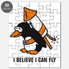 flying comic rocket penguin Puzzle