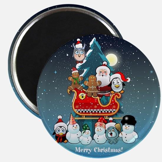 Santas Xmas Party Magnets