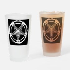 Speed Metal Cycling Pentagram Chain Drinking Glass