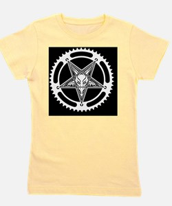 Speed Metal Cycling Pentagram Chainring Girl's Tee