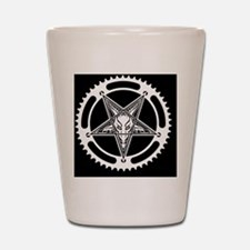 Speed Metal Cycling Pentagram Chainring Shot Glass