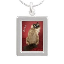 Birman Cat Keepsake Chri Silver Portrait Necklace