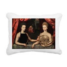 Gabrielle and her Sister Rectangular Canvas Pillow