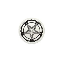 Pentagram Chainring Mini Button