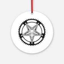 Pentagram Chainring Round Ornament