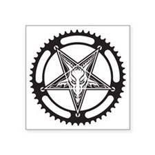 "Pentagram Chainring Square Sticker 3"" x 3"""
