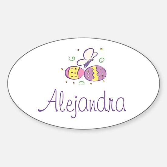 Easter Eggs - Alejandra Oval Decal