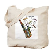 Wild Saxophone Tote Bag